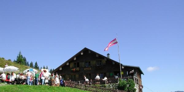 Blick zur Burgl Hütte