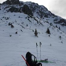 Das obere Ende der Ski-route auf knapp 2000m.