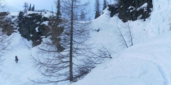 unangenehme Steilstufe über dem Naturfreundehaus