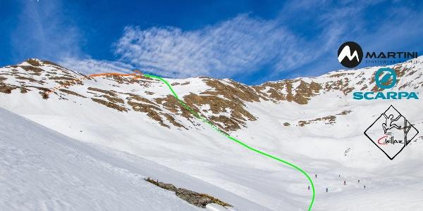 Übersichtsbild Skitour auf den Demut - Topo