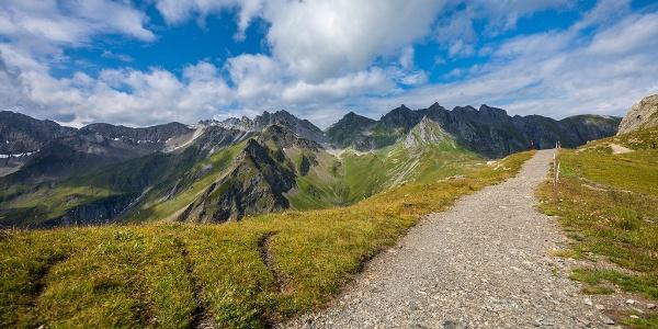 Die Wege auf diesem Trail sind breit und gut unterhalten