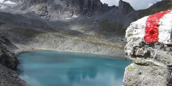 Blick auf den milchig-blauen Wildsee