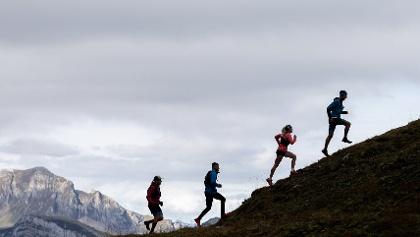 Trailrunning am Pizol vor imposanter Bergkulisse