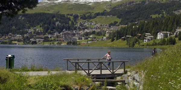 Blick auf St. Moritz