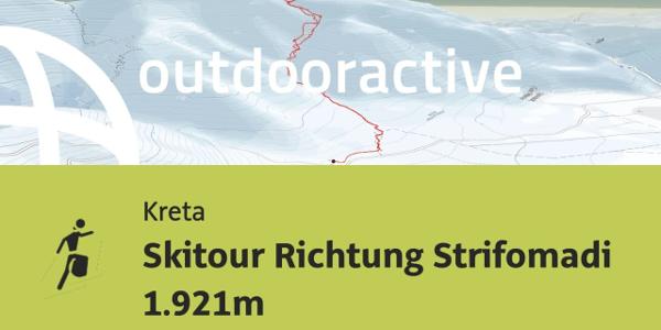 Interaktives 3D Erlebnis: Skitour Richtung Strifomadi 1.921m