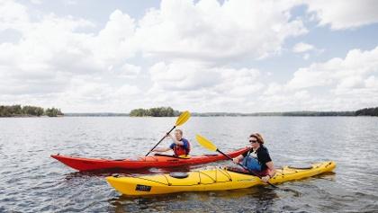 Sea kayaking in Finland