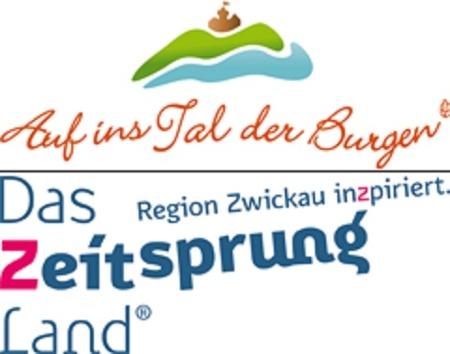 Logo Rochlitzer Muldental / Tourismusregion Zwickau - Das Zeitsprungland