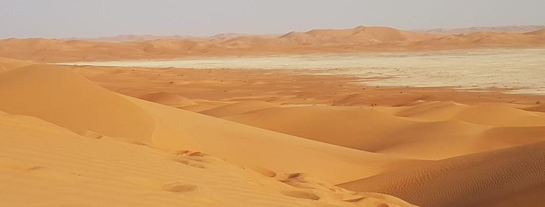 Die Rub Al Khali, die größte Sandwüste der Erde in ihrer majestätischen Schönheit. Hier in der Nähe der Saudischen Grenze.