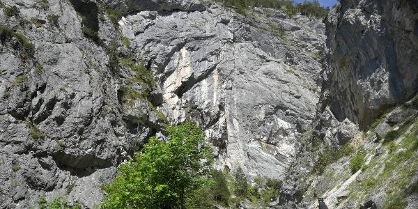 """Aufstieg durch die """"Schlucht der Öfen"""" (Tipp: """"Bike & Hike"""" - beschilderte Mountainbike Tour von Gröbming über die Forststraße zur Viehbergalm)"""