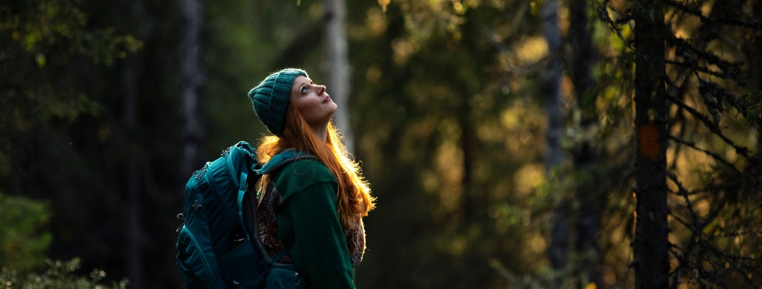 Hiking and enjoying nature