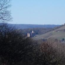 Blick zurück auf Schloss Arenfels