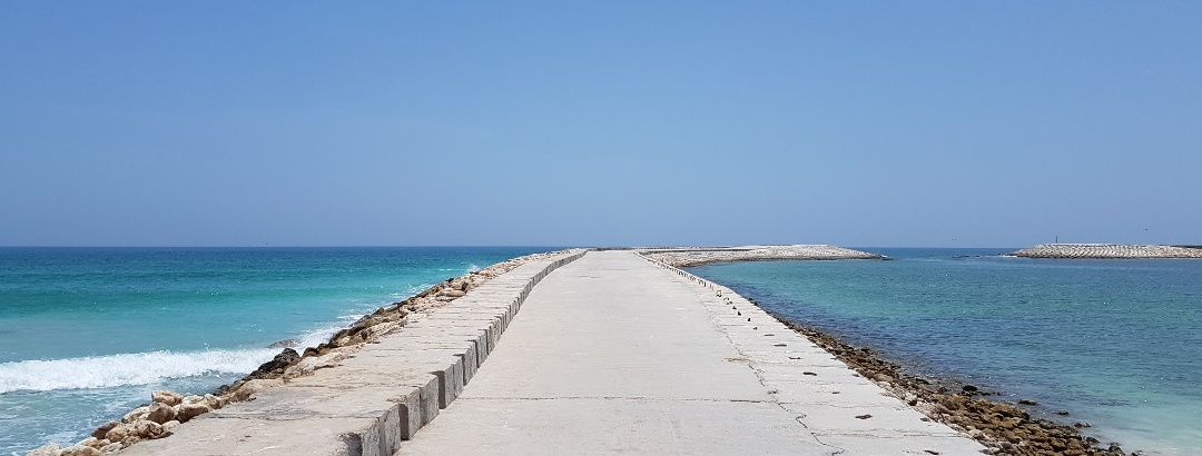 Mole am Strand bei Salalah.