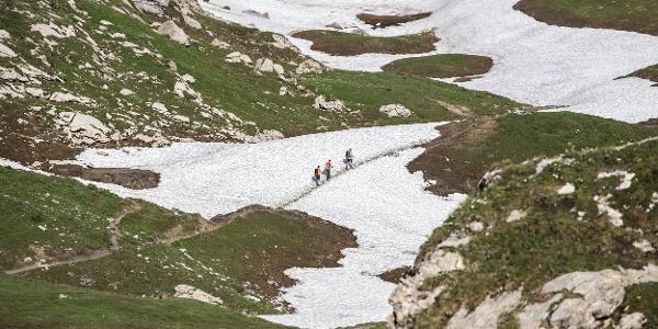 Wanderweg zum Schweizer Tor (c) Lucas Tiefenthaler / Vorarlberg Tourismus
