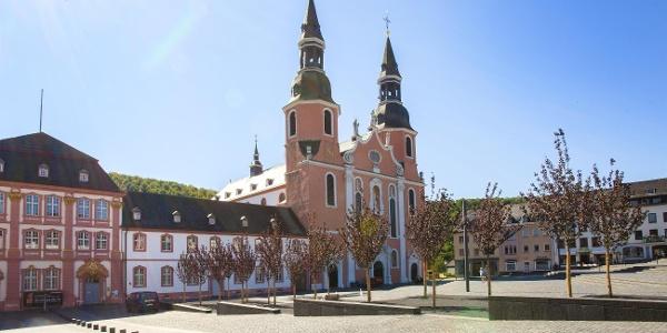 Blick  auf St. Salvator Basilika, Prüm