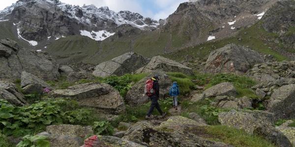 auf dem Weg in Richtung Mittelbergjoch (c) Martin Vogel / Vorarlberg Tourismus