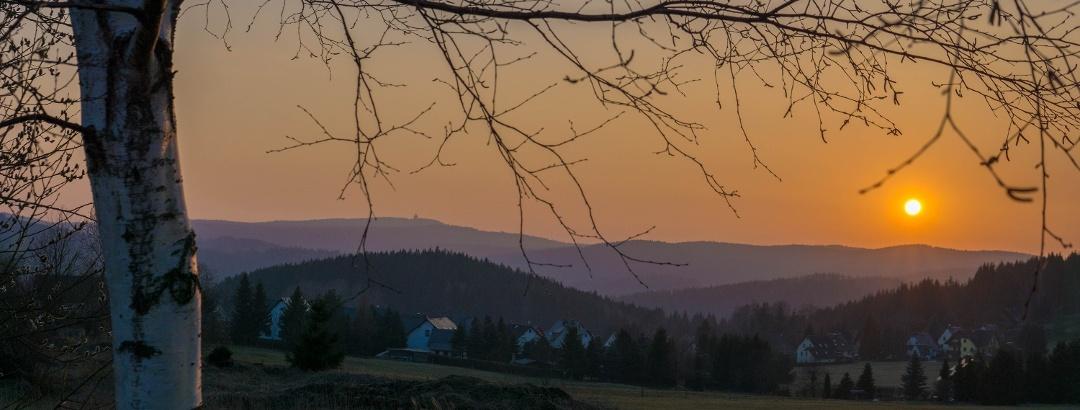 Sonnenuntergang Breitenbrunn