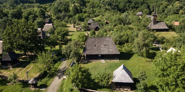 Muzeul Județean de Etnografie și Artă Populară Maramureș - Vedere de sus