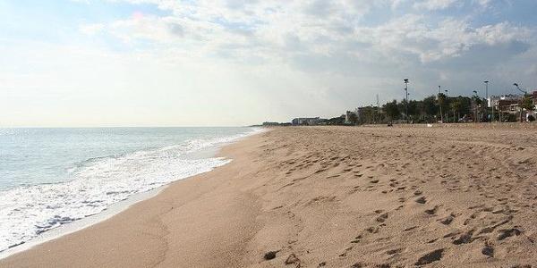 La plage à Malgrat