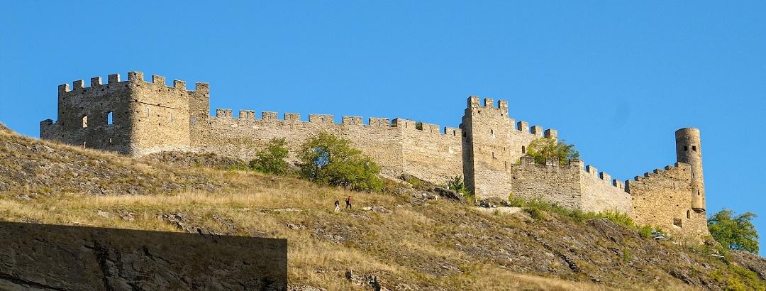 Burgruine Tourbillon oberhalb Sion.