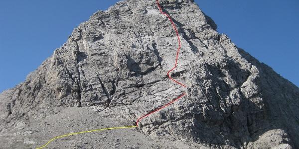Simonskopf Nordostwand mit Klaus-Waldner-Gedenkweg