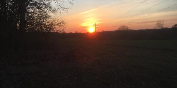 Dübbekolder Sonnenuntergang