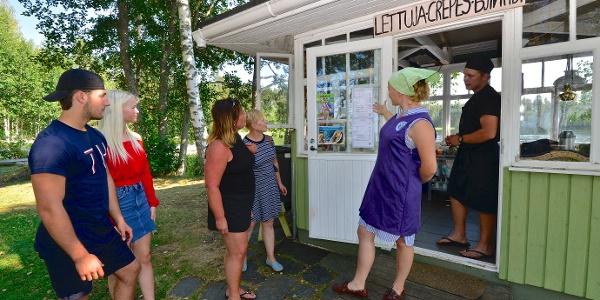 Der berühmte Pfannkuchen-Kiosk von Nestorinranta