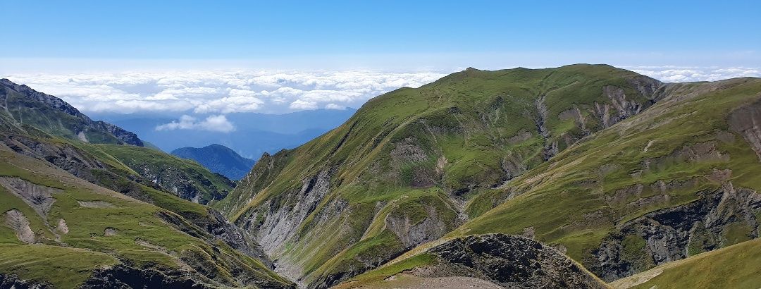 Mountain landscape in the Caucasus