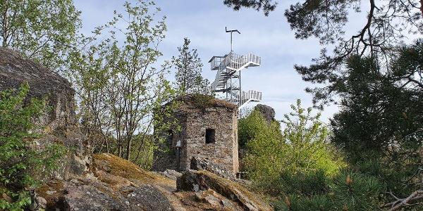 Turm Spitzer Stein historisch und neu