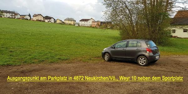 Der Parkplatz in Weyr