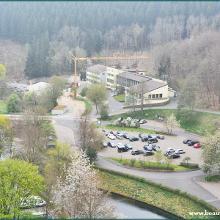 Startpunkt, Parkplatz an der Staumauer und Wasserwerk