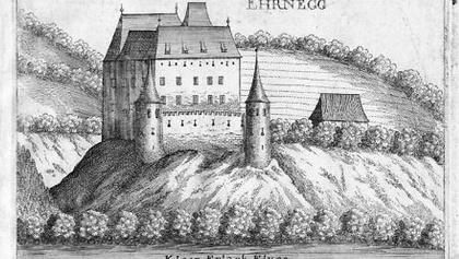 Ehrnegg, Kupferstich Vischer 1672