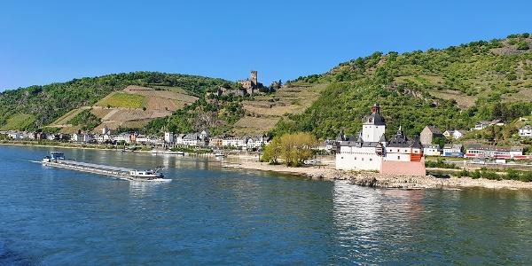 Burg Gutenfels und Burg Pfalzgrafenstein bei Kaub