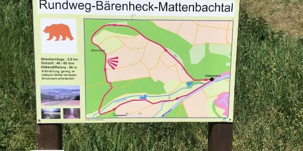 Startpunkt Rundweg Bärenheck-Mattenbachtal