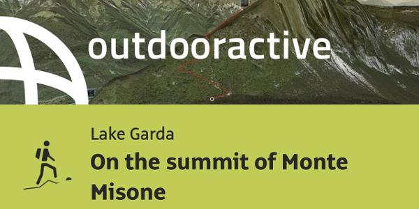 mountain hike at Lake Garda: On the summit of Monte Misone