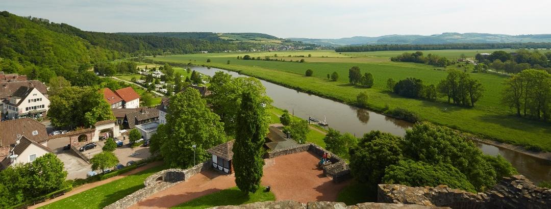 Blick von der Burg Polle