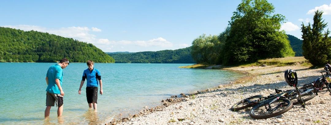 VTT dans le Jura - Lac de Vouglans