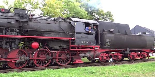 Rinteln-Stadthäger Dampfeisenbahn - Halt in Bad Eilsen