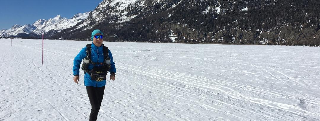 Trailrunning d'inverno sull' lago di Silvaplana
