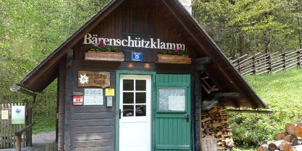 """Bärenschützklamm, """"Kassierhäuschen"""""""