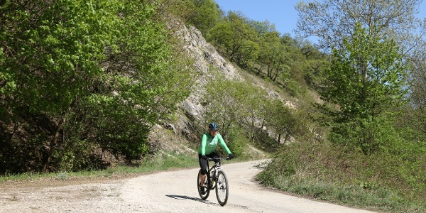 """Helyenként a hegységalkotó kőzet is a felszínre a bukkan a """"terv út"""" mentén"""