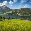 Panorama in Oberrüti, Blick auf den Alpnachersee