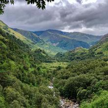 Blick zwischendurch ins Tal