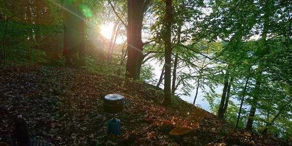 Rast am Ellbogensee zwischen Strasen und Großmenow