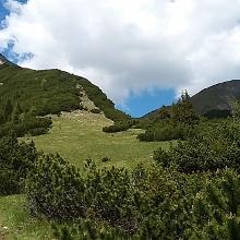 Aufstieg - Friederspitz links, Frieder rechts