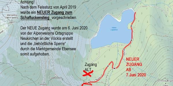 Ab 7. Juni 2020 NEUER Zugang zum Schafluckensteig!!