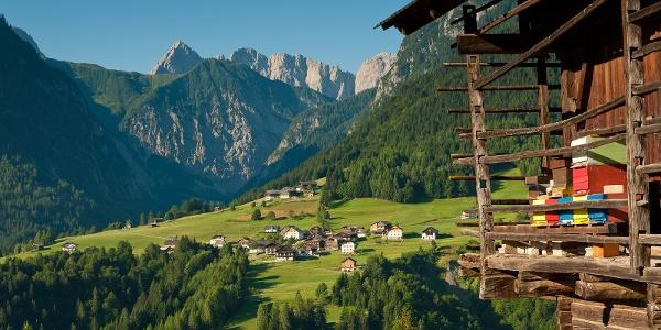 Blick auf die Ortschaft Nostra