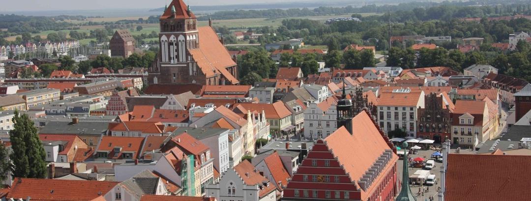Blick vom Greifswalder Dom (Aug. 2012)