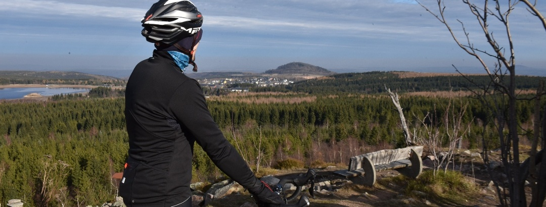 Radfahrer auf dem Kahleberg