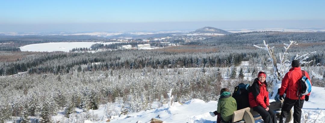 Winterwanderer auf dem Kahleberg