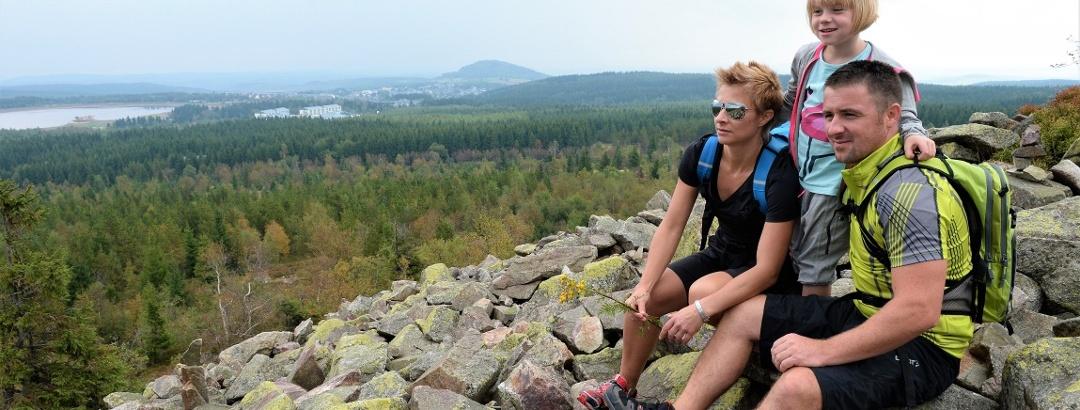 Wanderer auf dem Kahleberg